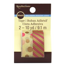 Pink & Kraft Metallic Washi Tape by Recollections
